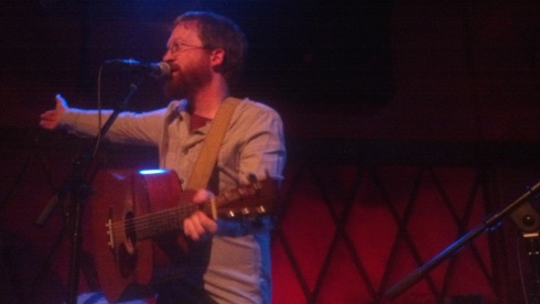 Niall Connolly playing to a sold out Rockwood Music Hall at the record release party for her latest album, Sound