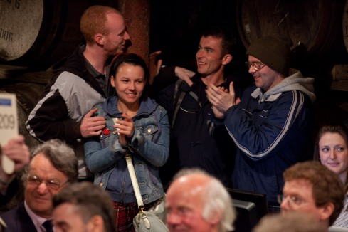 The lads and one lass enjoying a laugh along with the audience.