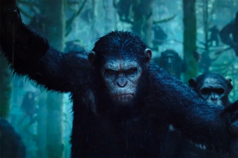 Andy Serkis looks less than pleased as Caesar in Dawn of the Planet of the Apes. (image: moviepilot.com)