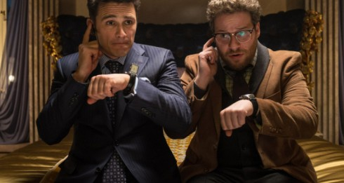 James Franco and Seth Rogen synchronize their watches in The Interview (image: www.neowin.com)